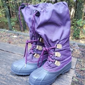 Sorel Purple lined rain snow boot US Sz 8